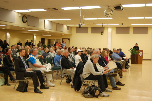 At least 100 residents, business owners, property owners, city staff and officials gathered at the Joslyn Center Friday to hear from ULI.