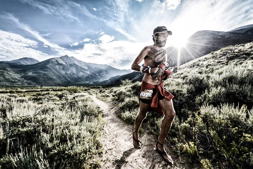 Patrick Sweeney on mile 60 of the 2013 Leadville 100 Mile Endurance run in Colorado. Photo by Scott Laudick