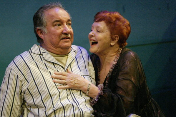 """Rodney Rincon and Mary Margaret Lewis in """"Maimie and Martin Go To Bed,"""" by Kat Ramsburg. Photo by Mickey Elliot"""