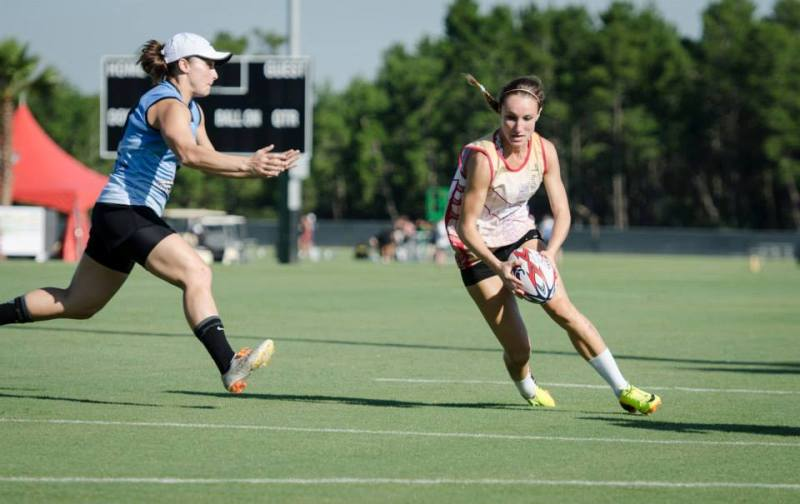 Ellie Koncki, right, advances the ball during the U.S. Nationals held in Orlando, FL.