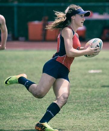 Mira Costa senior Ellie Koncki is the youngest member of the U.S. Women's Touch Rugby team that will compete in the World Cup in May. Photo by Raelly Alvarez