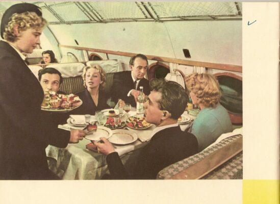In 1958 the Soviet Union offered luxurious service aboartf the fastest flights in the world on Aeroflot's TU-104 jets.