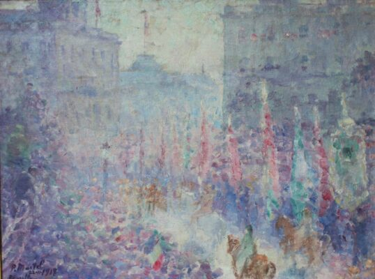 """The Return of King Albert"" (1918), by Paul Jean Martel"