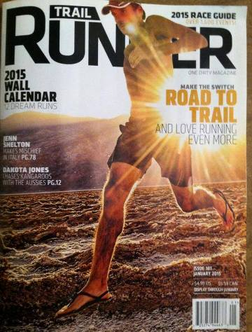 Patrick Sweeney graces the January 2015 cover of Trail Runner