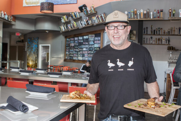 Chef Sean Chaney, a plaintiff in the lawsuit that successfully overturned a state ban on foie gras, celebrated the ruling with a lunch of the controversial dish last Thursday. Photo by Brad Jacobson