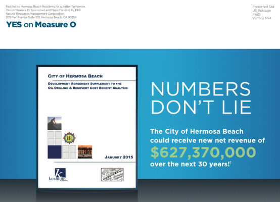 Last week, E & B's mailer went out to Hermosa residents and appeared in local papers. This week, City Manager Tom Bakaly issued a letter asking for the ad to be retracted.