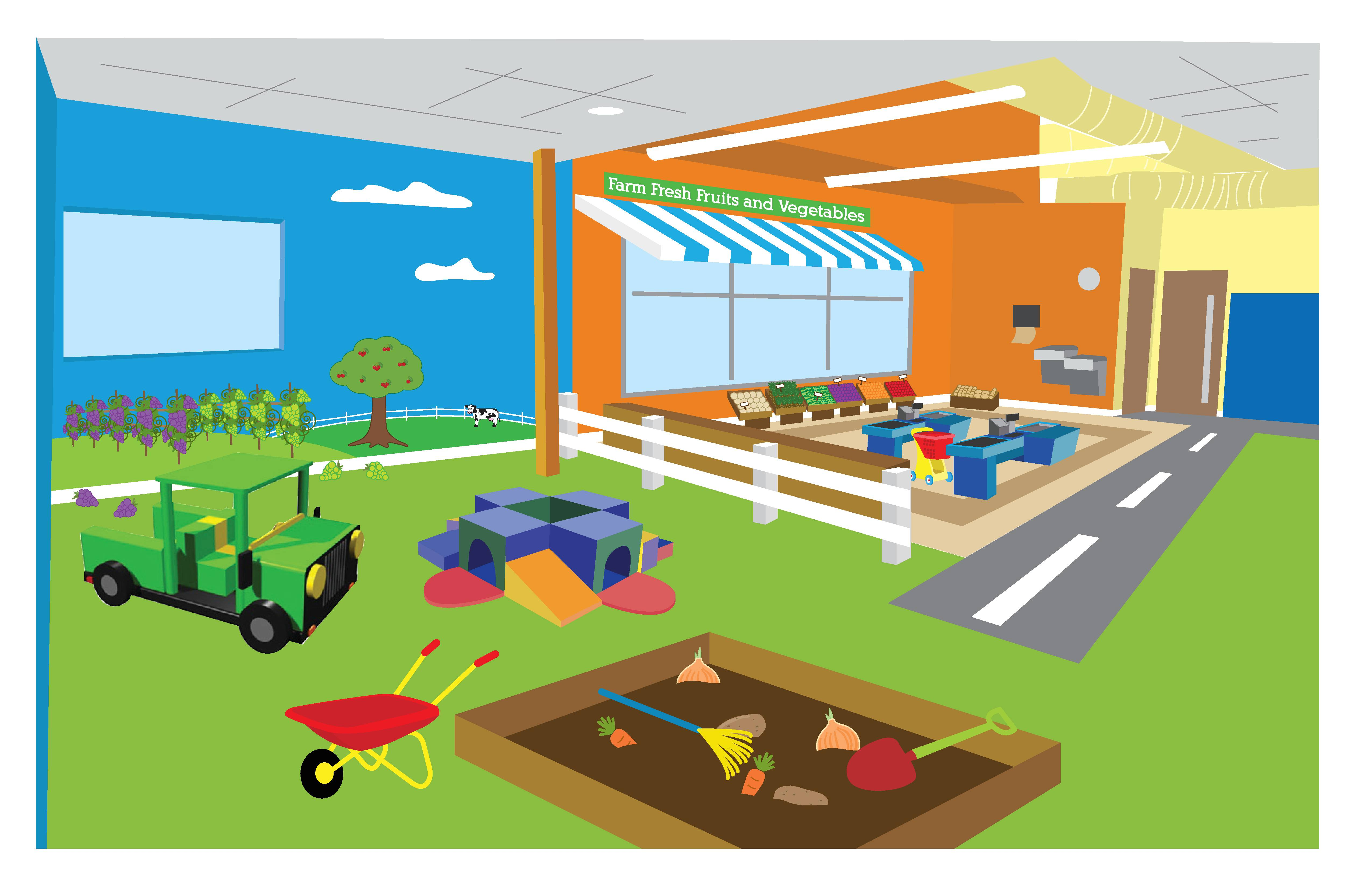 Toddlertown At Adventureplex Will Teach Kids How Food Moves From The Farm To Table