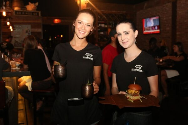 The Standing Room's outstanding burgers. Photo by Kevin Cody
