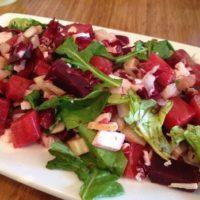 Beet and arugula salad at The Source.