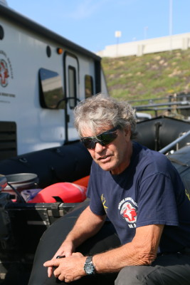 Peter Wallerstein at the Marine Animal Rescue headquarters in Dockweiler Park, where he also lives. Photo by Caroline Anderson