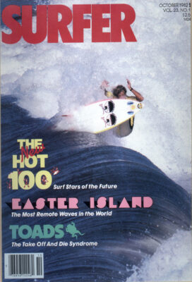 Dennis Jarvis on the cover of Surfer Magazine.