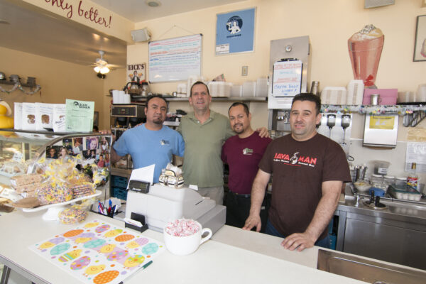 Owner Rick Hankus, second from left, with Martin Rodriguez, Jose Rodriguez and Jamie Avila. Photo By Brad Jacobson