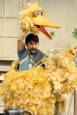 Archival photo of Caroll Spinney puppeteering Big Bird. Photo courtesy of Robert Fuhring.