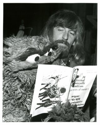 Archival photo of Caroll Spinney and Oscar the Grouch. Photo courtesy of  Gary Boynton/Puppeteers of America