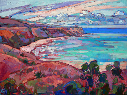 Erin Hanson's view of coastal Palos Verdes is this year's featured artwork at the Hermosa Beach Fine Arts Festival. Courtesy of the artist.