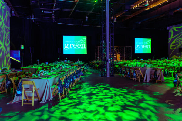The setting at the Grades of Green fundraising event fits the theme. Photo provided by the event organizer.
