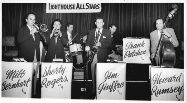 Primetime for the Lighthouse All-Stars, 1952. Photo courtesy of the L.A. Jazz Institute