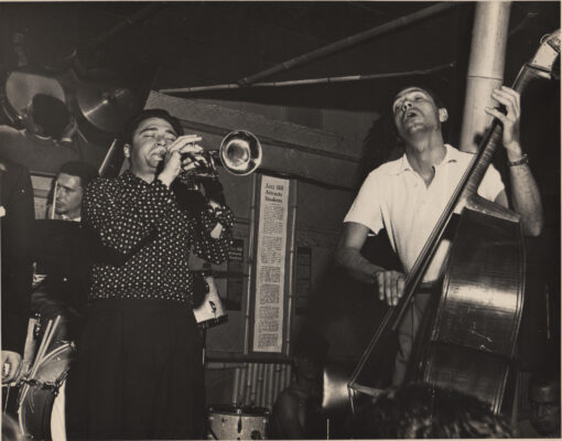 Shorty Rogers and Howard Rumsey performing at the Lighthouse in 1952. Photo courtesy of the L.A. Jazz Institute