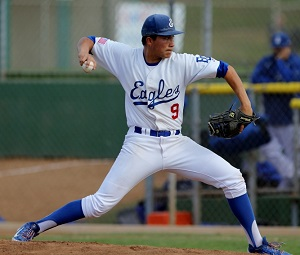 As a pitcher, Hunter Lewis posted a 4-2 record and 2.42 ERA for the Eagles. Photo by Greg McMullen