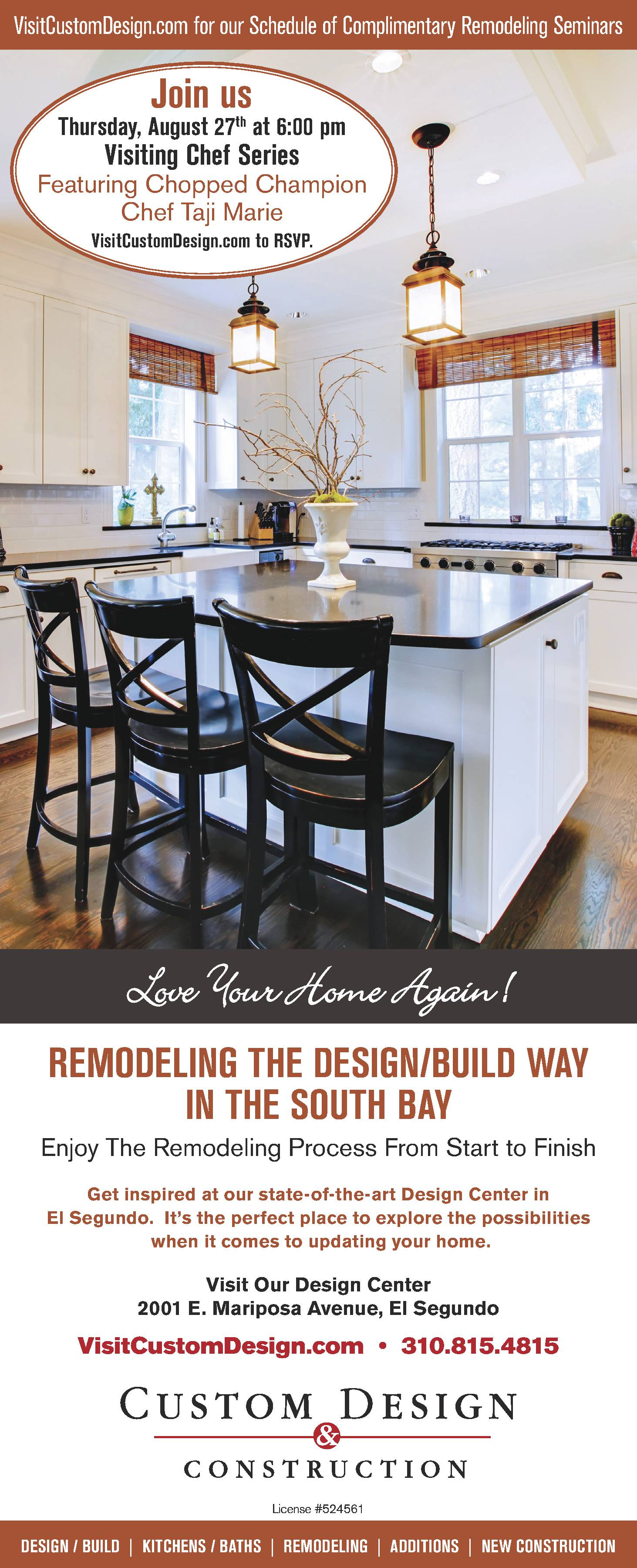 Paid Advertisement Remodeling Seminar Featuring Chopped Champion