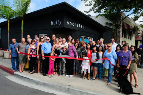 Cutting the ribbon for the inaugural El Segundo Art Walk, which took place on June 18. It's also taking place tonight from 5 to 9 p.m. Photo by Chris Miller