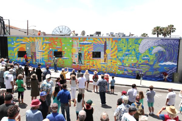 Hermosa Beach Mural unveiling. photo