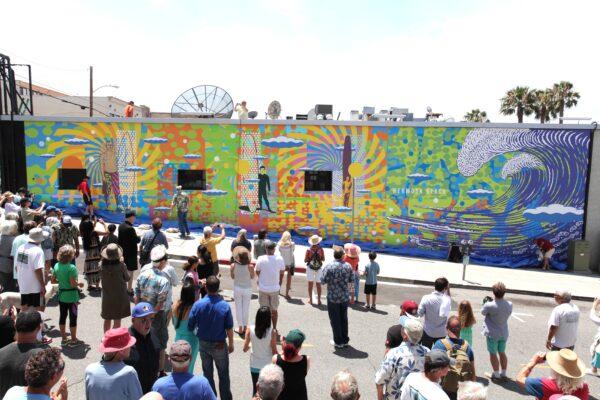 Hermosa Beach Mural unveiling. photo