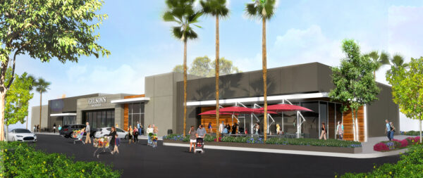 A rendering of the proposed store. Courtesy of Paragon Commercial Group