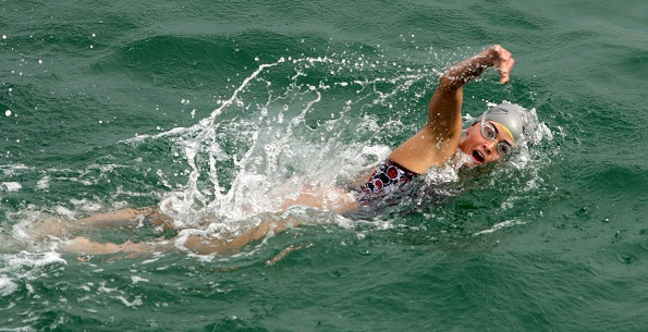 Kevin Fink swims to second Dwight Crum Pier-to-Pier championship
