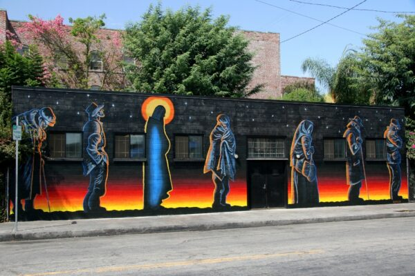 Catholic worker mural
