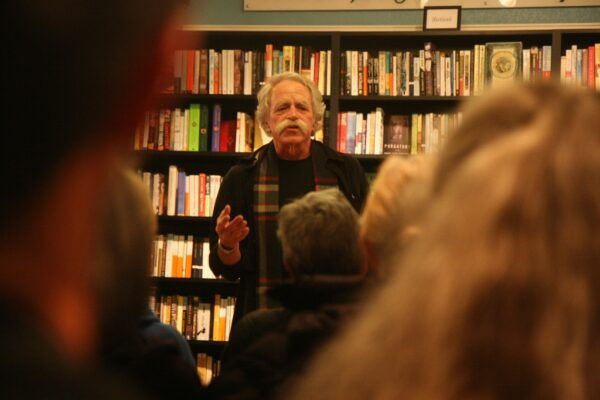 Jeff Dietrich during a 2012 reading from Broken and Shared at Pages Bookstore. Photo by Kevin Cody