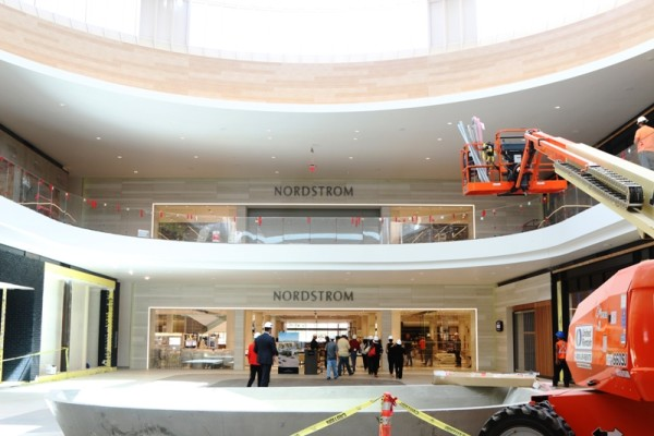 Nordstrom's mall entrance.