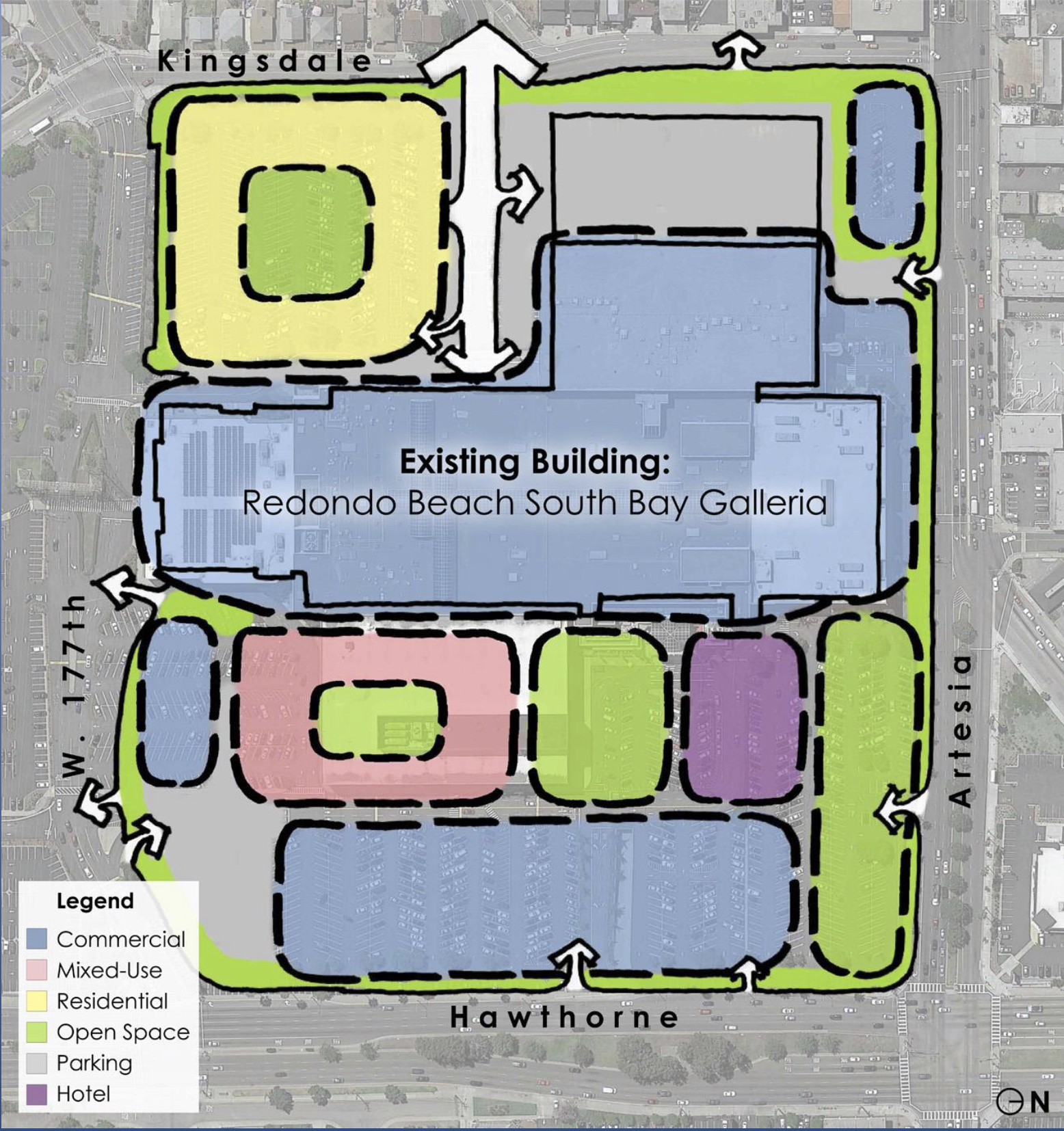 Proposed South Bay Galleria design includes housing, hotel
