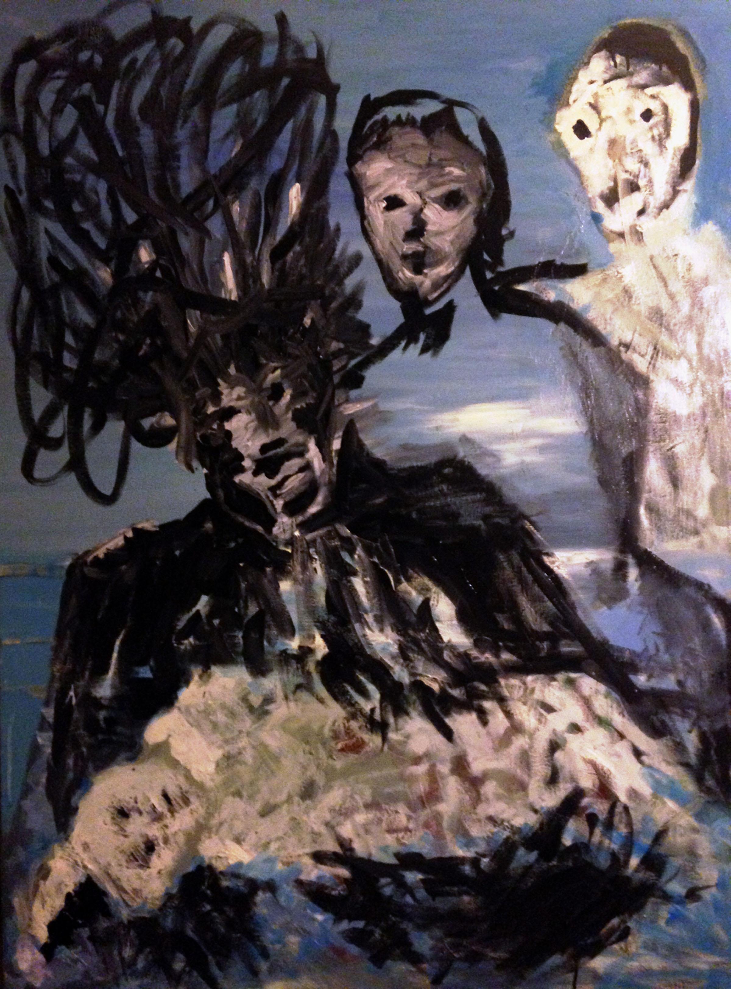 """The cradling of the clownchild,"" by Scott Trimble"