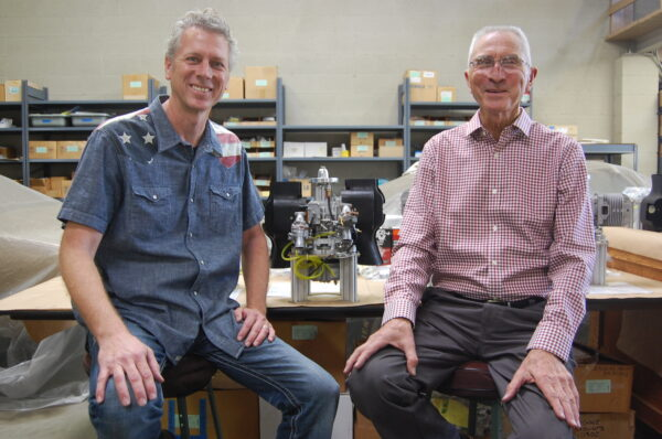 Dean and Dale Herbrandson in their workspace in Lawndale. Photo by Esther Kang