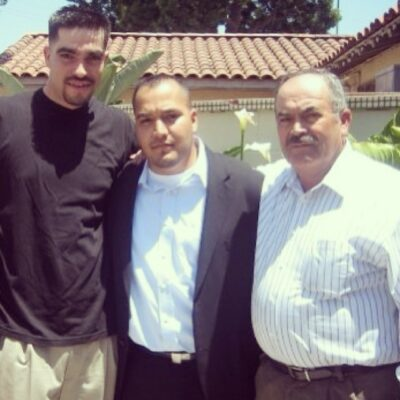 """Ferreol Cardenas, Jr. (left) in a photo posted by a relative, Omar Ferreol Cardenas (center), on Facebook three days after Cardenas, Jr.'s death. """"This is my Brother Ferreol Cardenas, Well everyone calls him Chato...Unfortunately he passed away yesterday...I guess only God knows why...He will be missed dearly from our family...Rest in peace Bro…"""" wrote Cardenas."""
