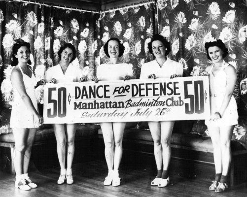 A photo for a 1944 fundraiser held by the Manhattan Beach Badminton Club. Photo courtesy of MBBC