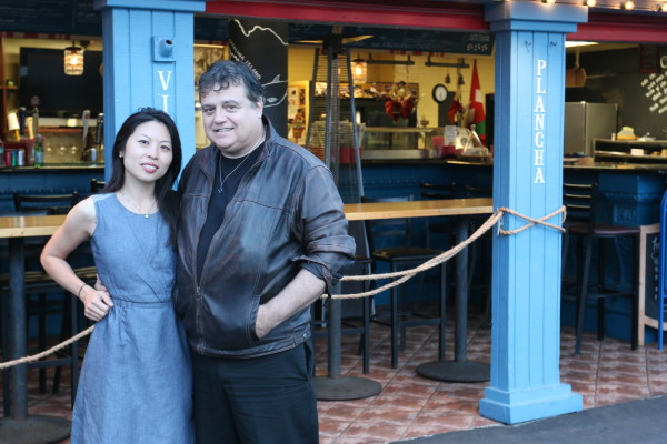 Jessica and Bernard Ibarra outside A Basq Kitchen. Photo by Mark McDermott