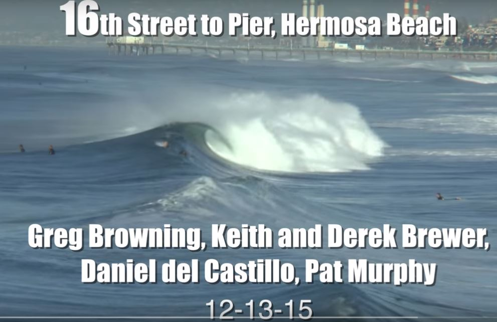 Hermosa surf in December: Video by MartyCam