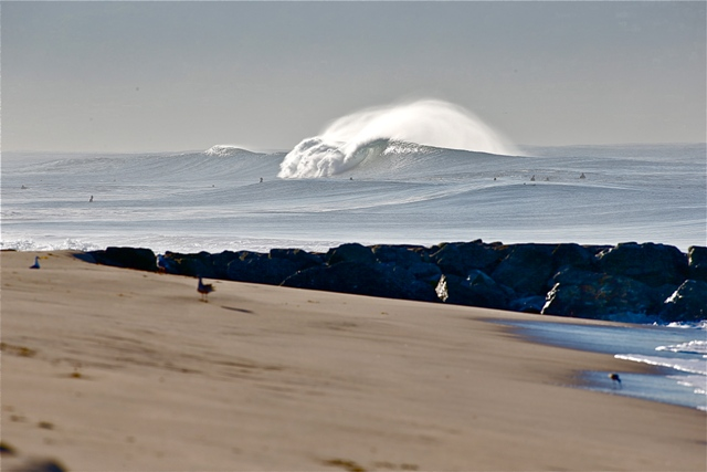 Balzer points out that the South Bay does get good from time to time. photo by Mike Balzer