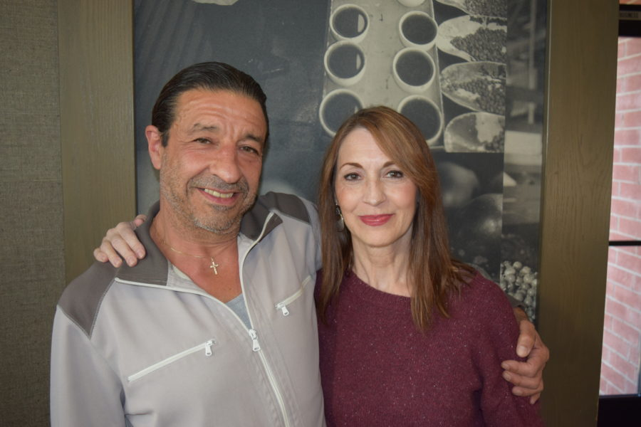 Playwright and actor Angelo Masino with actress Loree Sobrito. Photo by Bondo Wyszpolski.