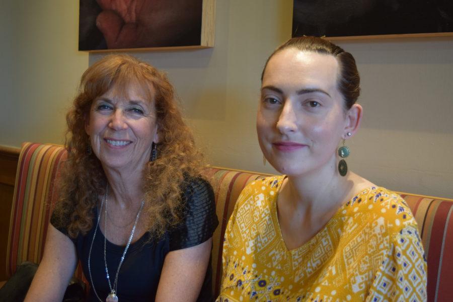 Georgette Gantner, with her daughter Mallory. Photo by Bondo Wyszpolski.