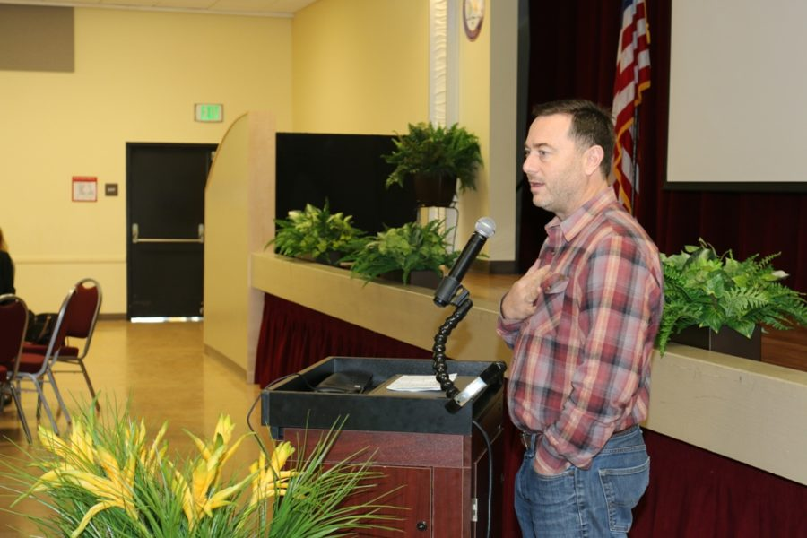 Downtown Commercial Property Owners leader Kyle Ransford urged business owners to get involved in city issues.
