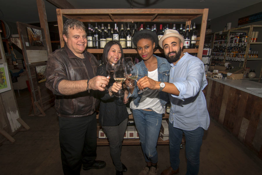 Bernard Ibarra, Jessica Lo Ibarra, Lenora and Adnen Marouruani at Barsha Wines. Photo by Brad Jacobson