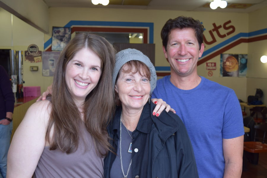 """""""Olive and the Bitter Herbs"""" cast members Hillary Weintraub, as Wendy, Diana Mann as Olive, and Steve Oreste as Trey. Not pictured, Tim Peck as Robert Brannigan and Robert Amberg as Sylvan Guski. Photo by Bondo Wyszpolski"""