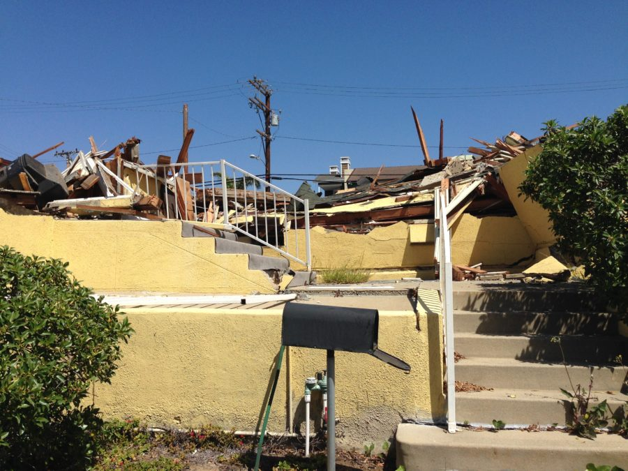A house belonging to one of the city's founders came down on Apr. 1. Photo