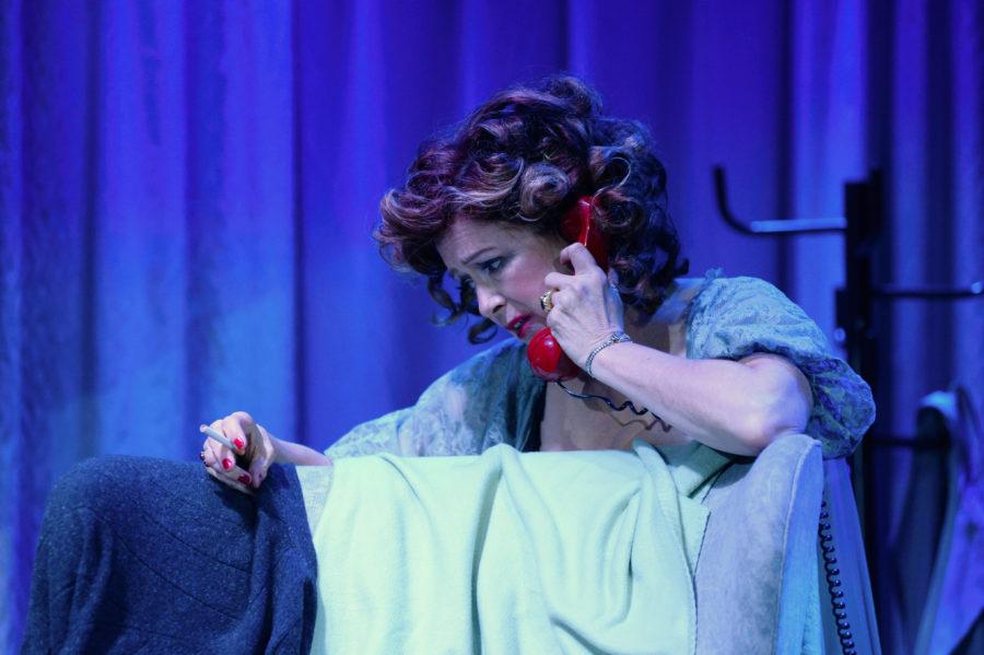 "Suzan Hanson in the Long Beach Opera production of ""La Voix Humaine."" Photo by Keith Ian Polakoff"