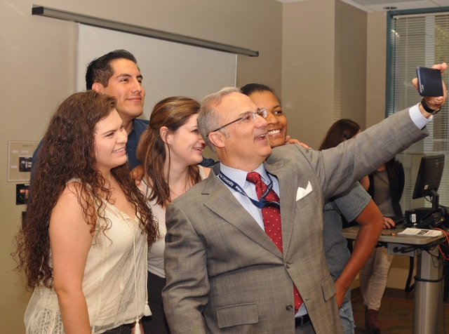 Newly appointed Marymount president Dr. Lucas Lamadrid believes education is enhanced by a multinational student body
