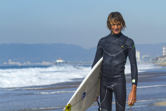 South High's Parker Browning  lives up to a family surf legacy