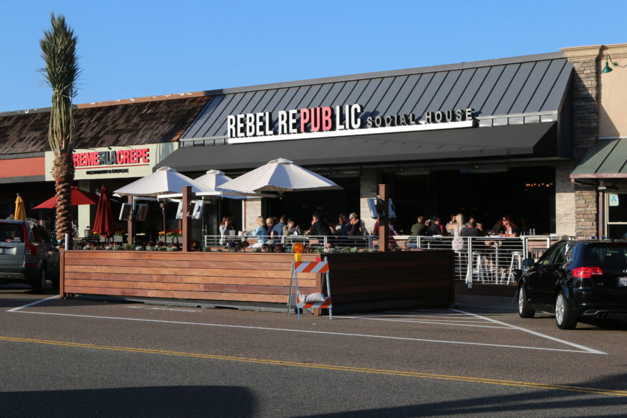 The Dining Deck Outside Of Rebel Republic Social House First In A City